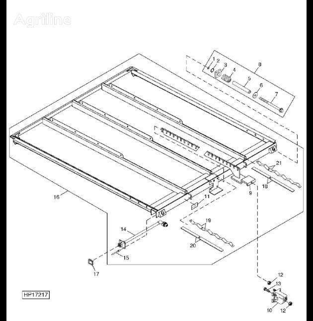 câblage Wiązka przewodów pour moissonneuse-batteuse JOHN DEERE 9880i