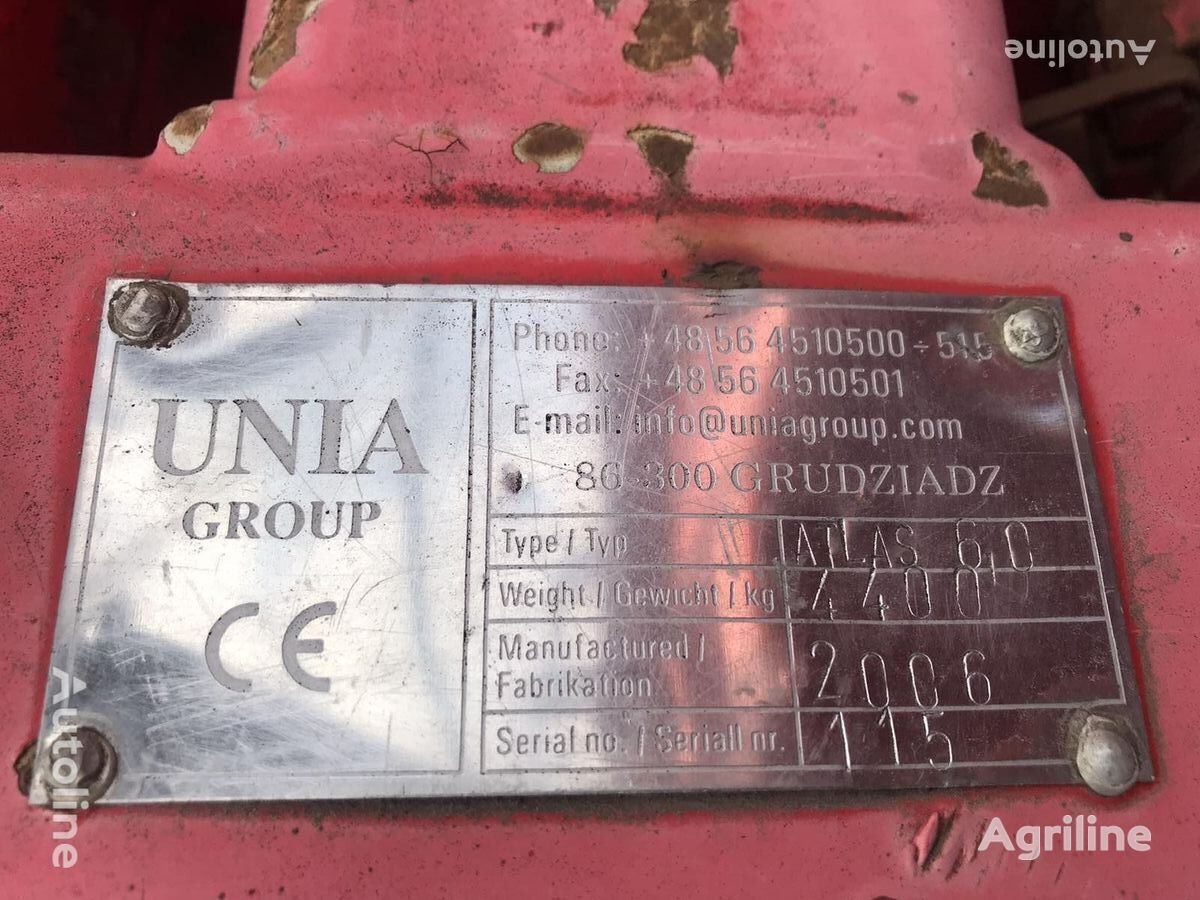 vibroculteur UNIA ATLAS HP 6